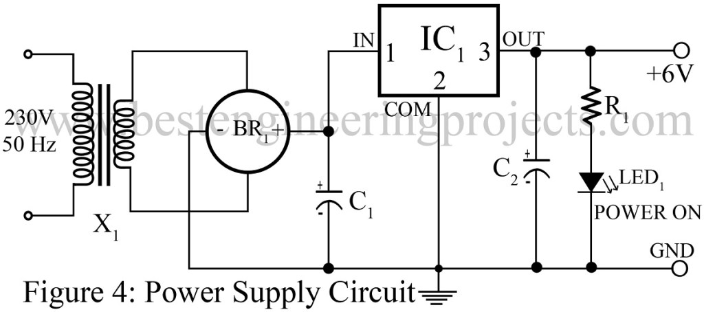 power supply circuit for speech communication using laser