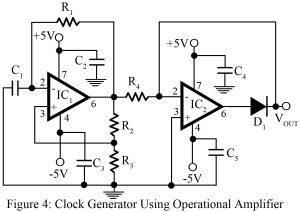 clock generator using operational amplifier