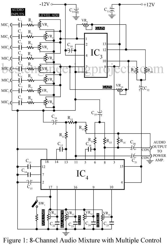 low power audio amplifier circuit diagram using lm386 autostereo tone control circuit diagram t