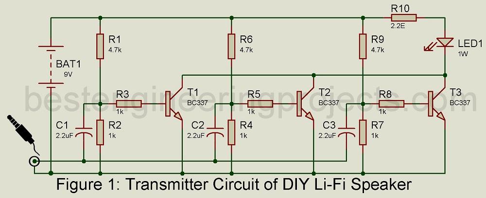 DIY Li-Fi Speaker How to Design - Engineering Projects