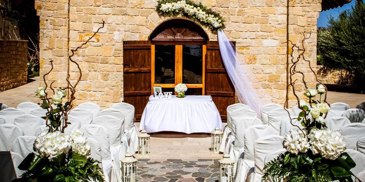 Outdoor Wedding Ceremony In The Mediterranean, Aphrodite Hills Resort Cyprus, Prestigious Venues