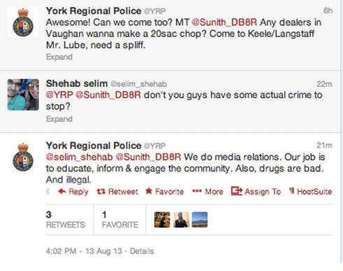York Police commenting on drugs