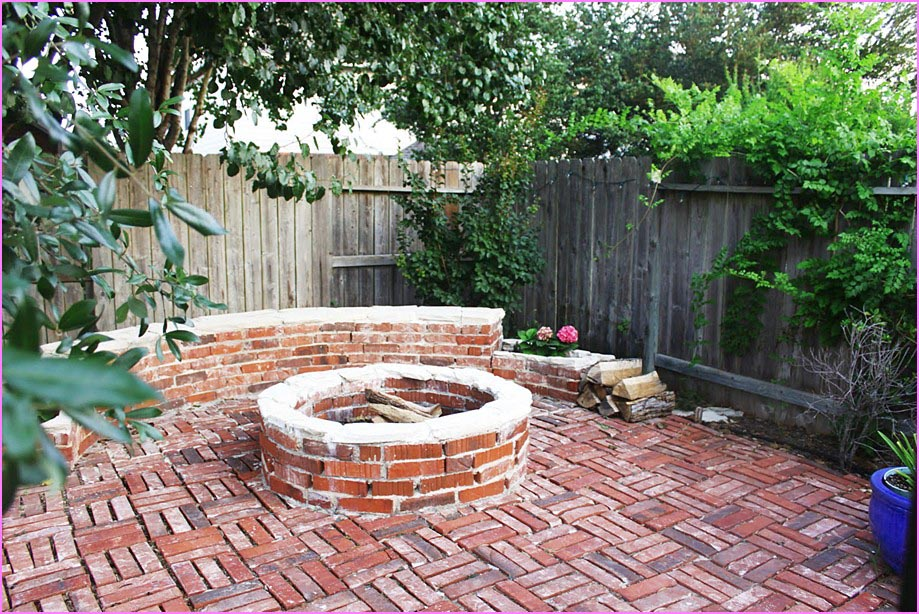 Brick Patio With Fire Pit Fire Pit Design Ideas