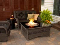 Patio Table With Propane Fire Pit | Fire Pit Design Ideas