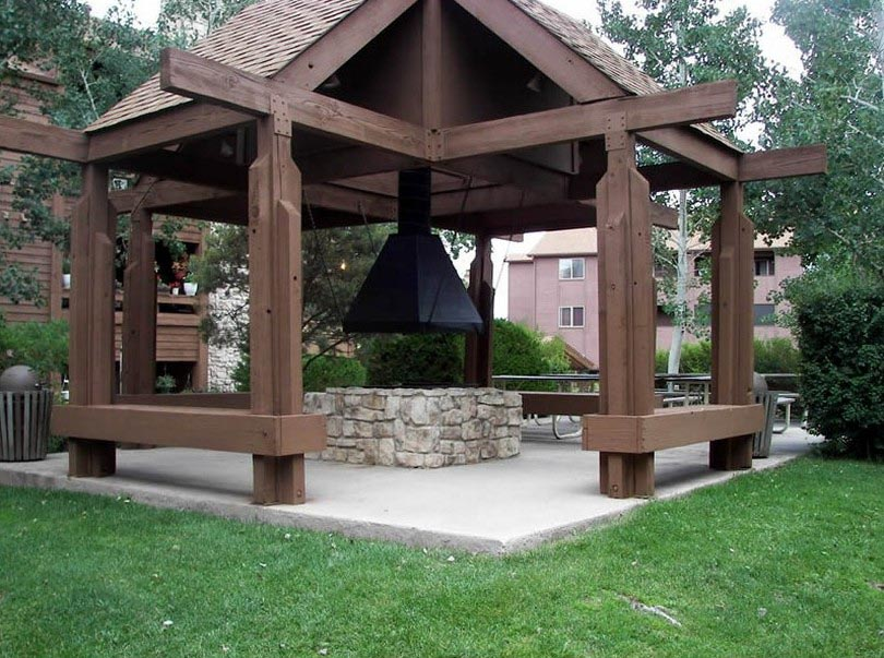 Gazebo With Swings And Fire Pit Fire Pit Design Ideas