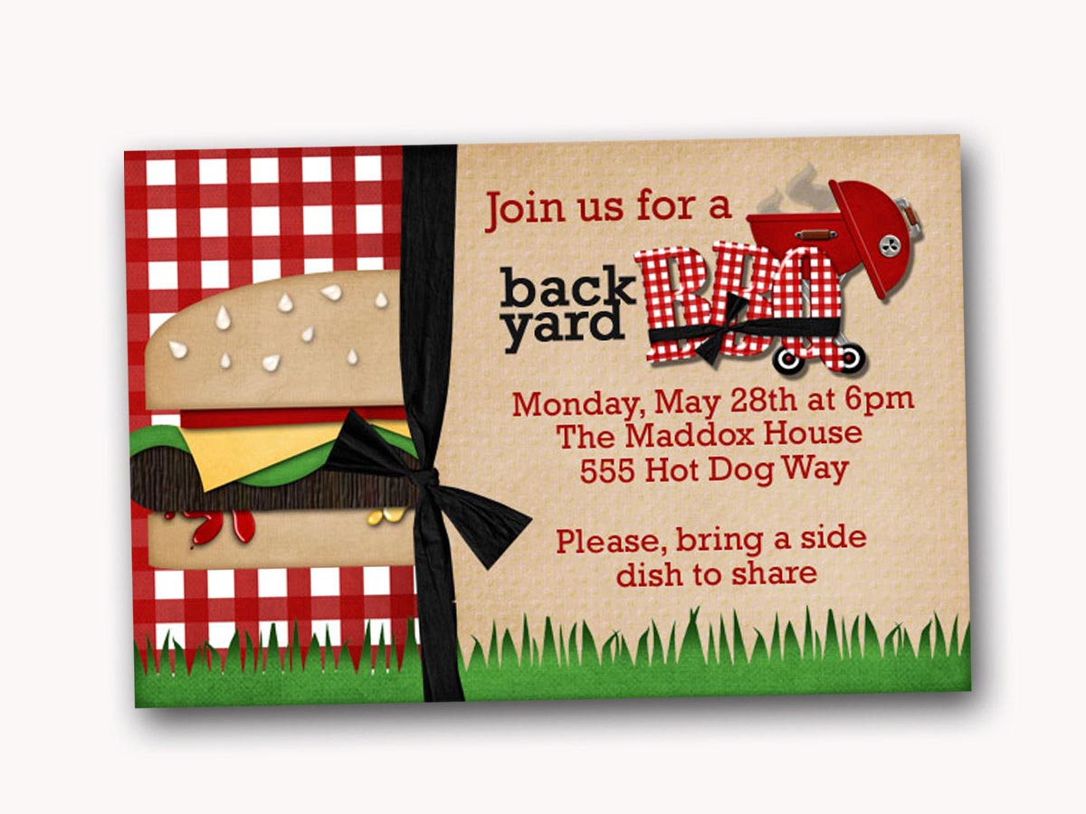 Sample Invitation For Bbq Party Fire Pit Design Ideas