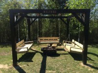 Swinging Bench Fire Pit Project | Fire Pit Design Ideas
