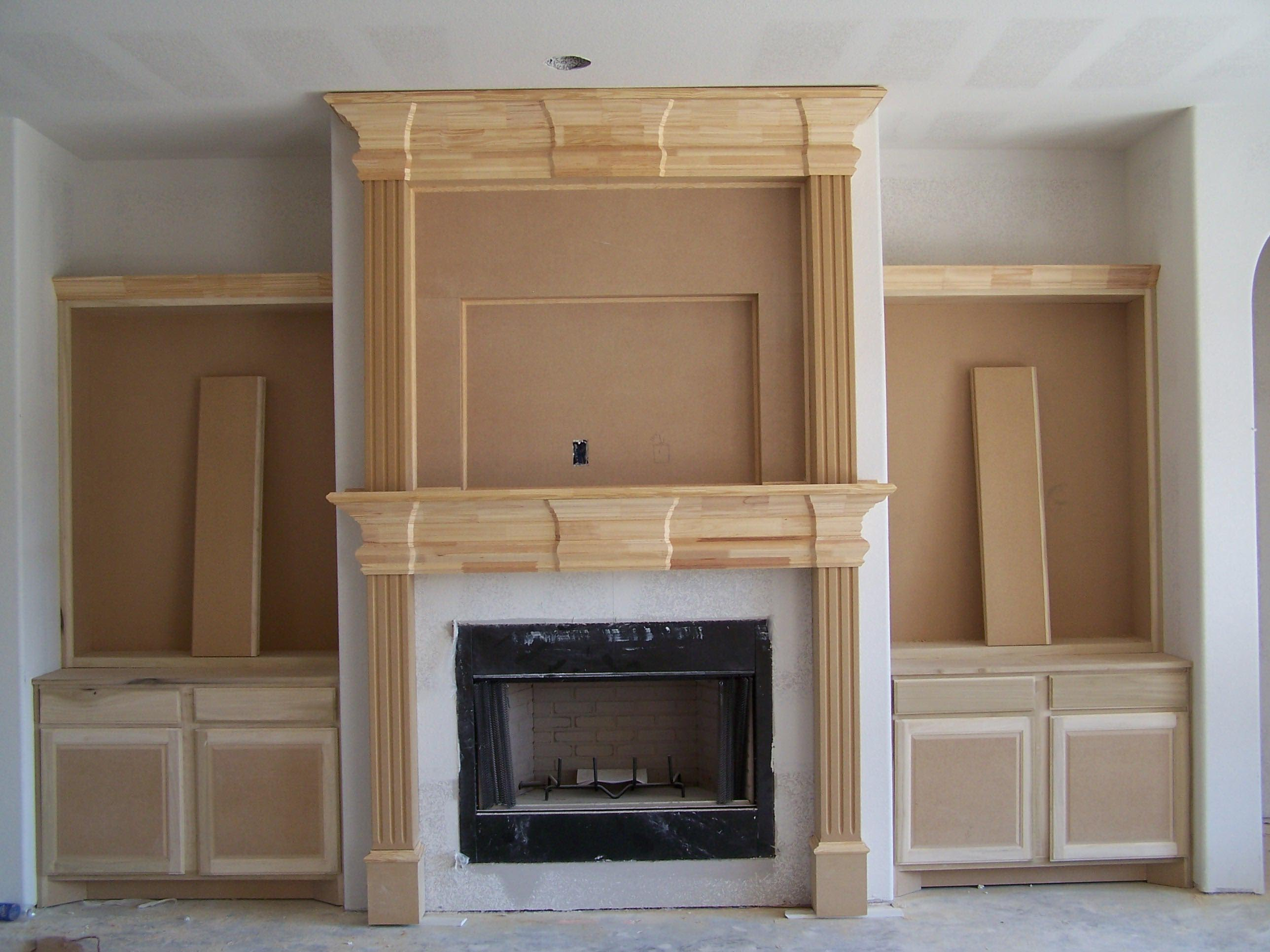 Build Modern Mantel Fireplace Designs