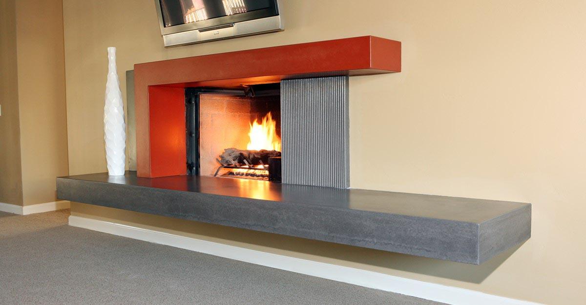 Concrete Fireplace Surround DIY