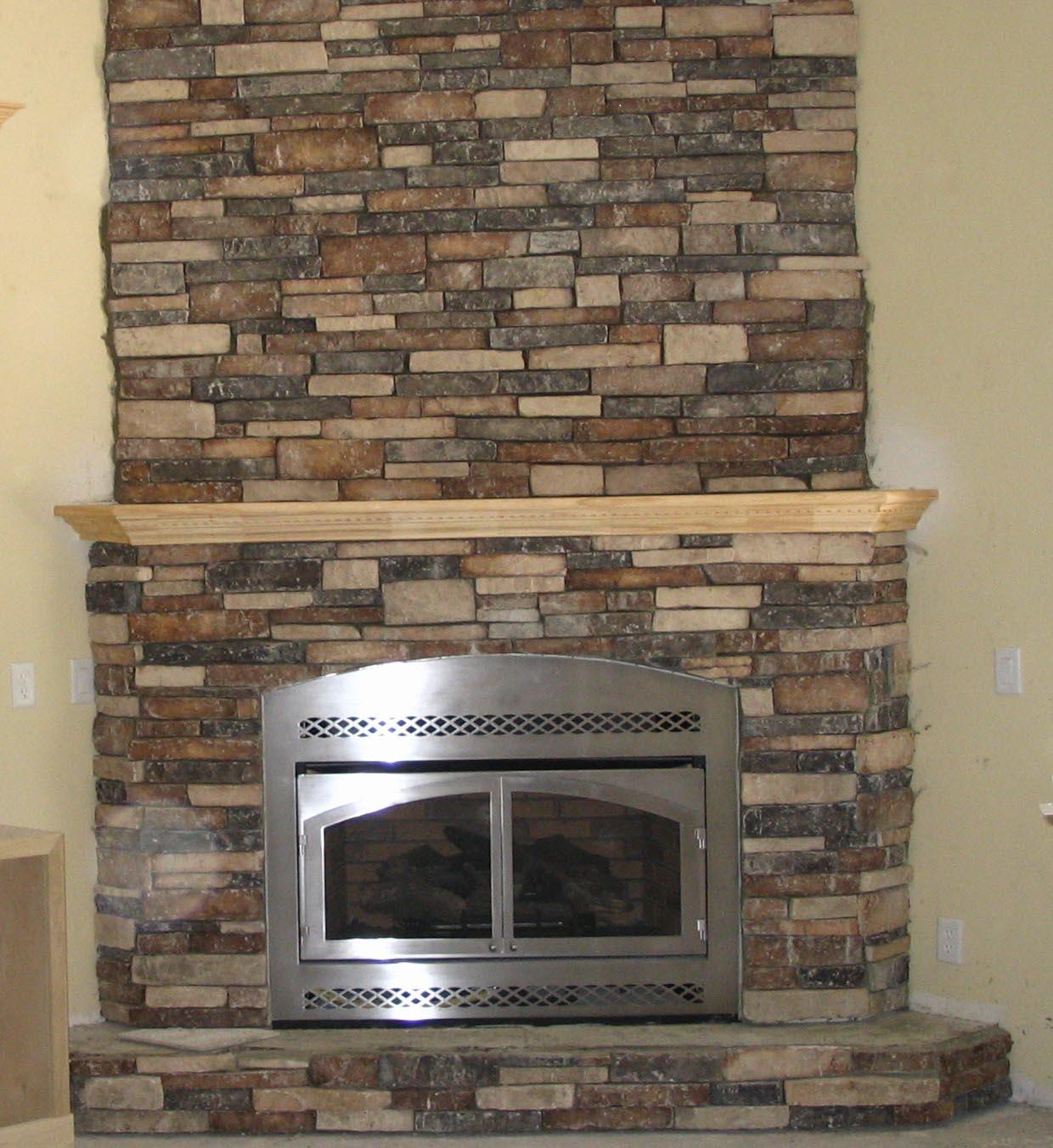 Fake Stone Fireplace Design