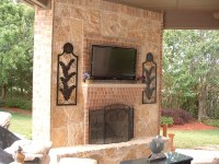 Faux Stone Outdoor Fireplace