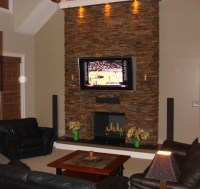 Modern Stone Fireplace Wall Ideas