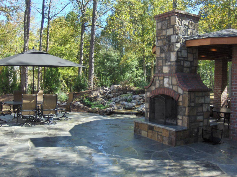 Outdoor Brick Fireplace Kits Fireplace Designs