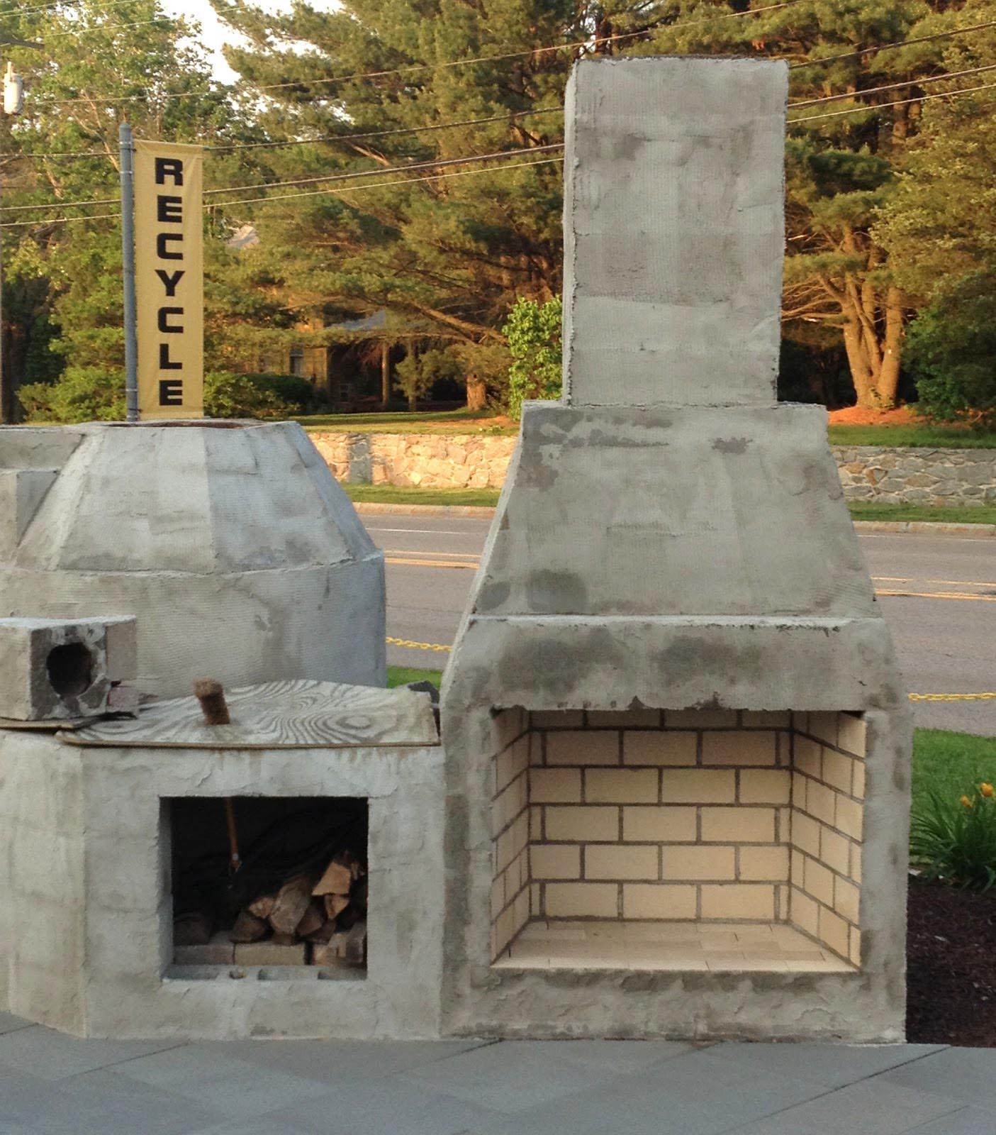 Outdoor Stone Fireplace Kits Fireplace Designs