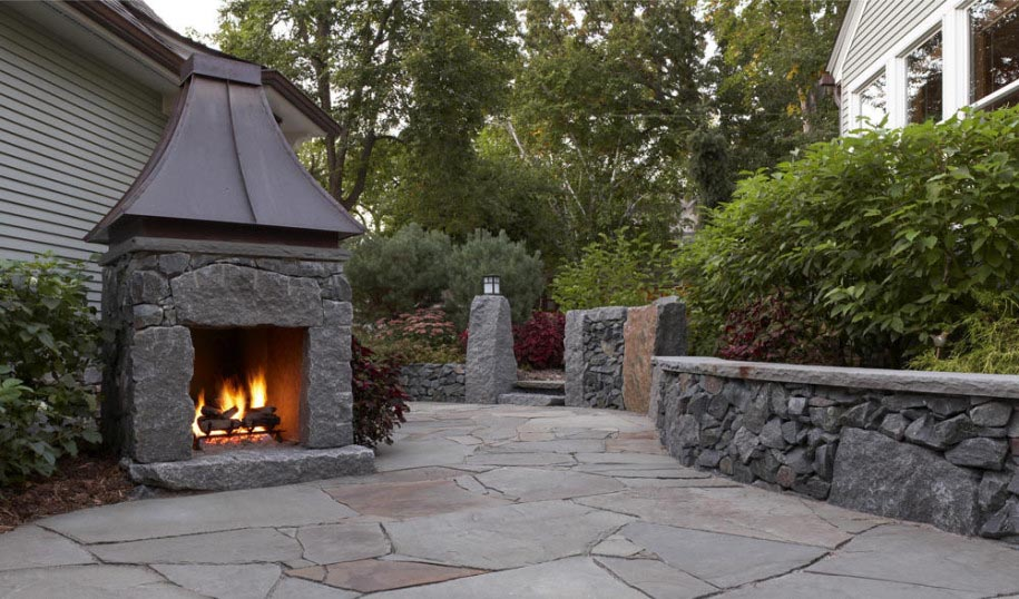 Outdoor Stone Fireplace Plans Fireplace Designs