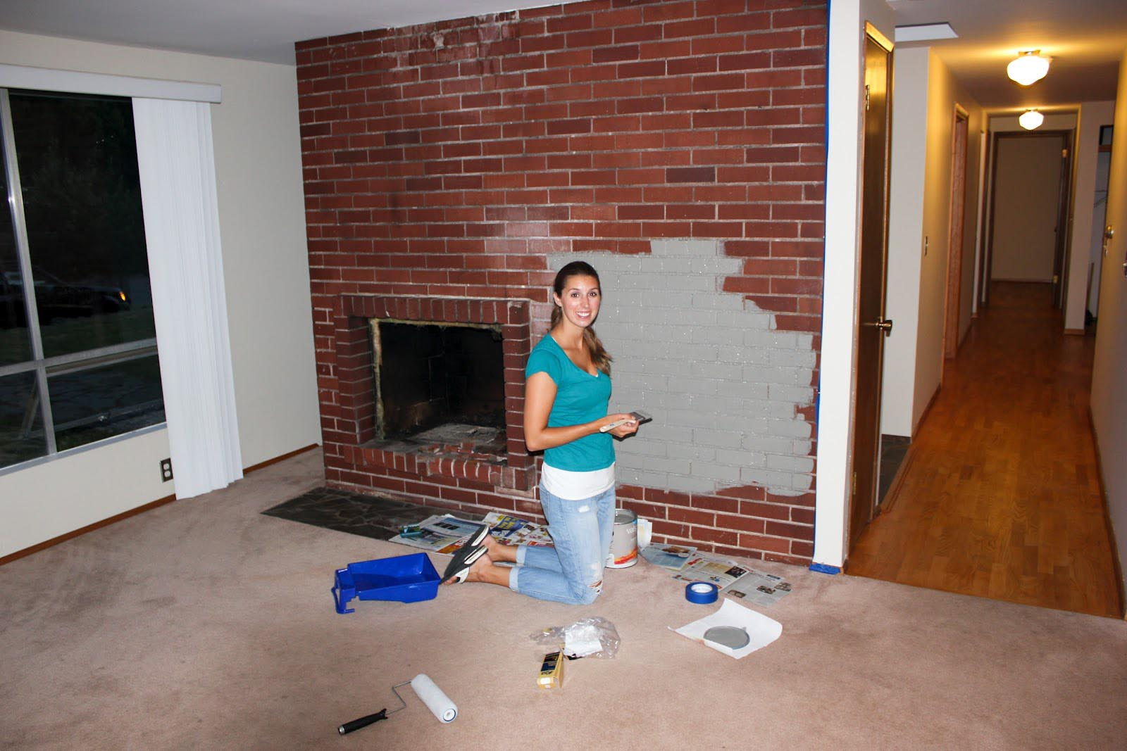 Paint Colors That Go With Red Brick Fireplace Paint Colors Brick Fireplace Fireplace Designs