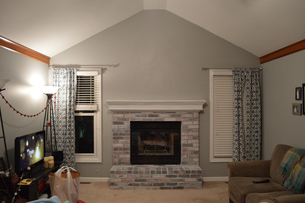 Painted Red Brick Fireplace Fireplace Designs