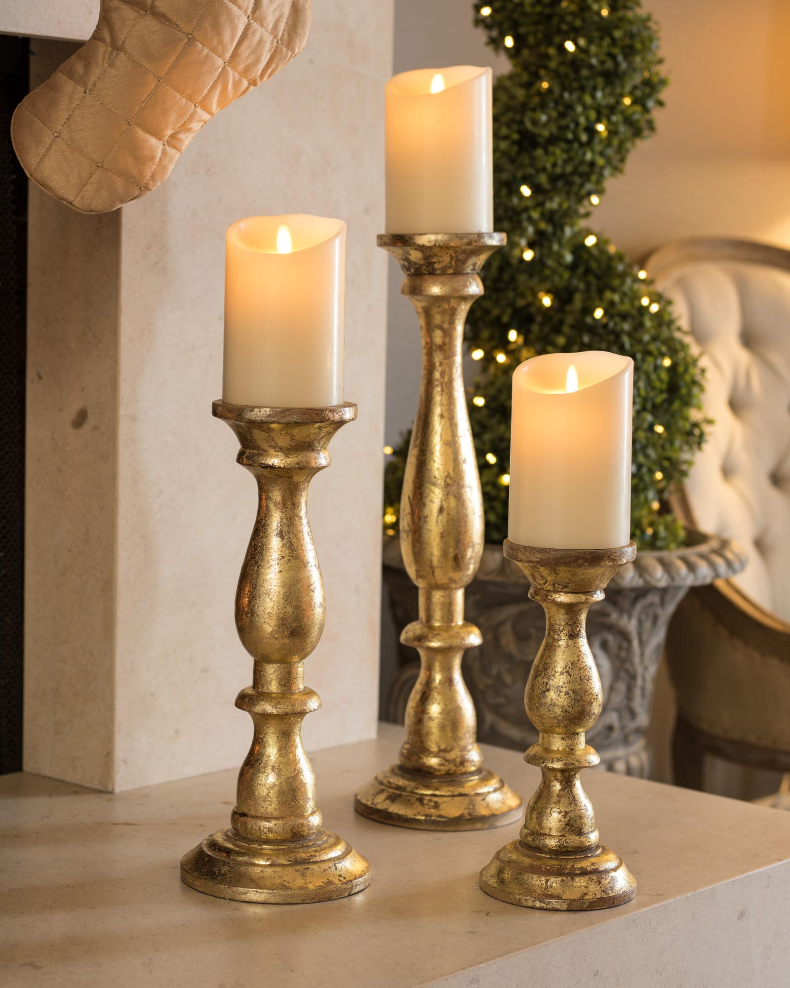 Pillar Candle Holders For Fireplace Fireplace Designs
