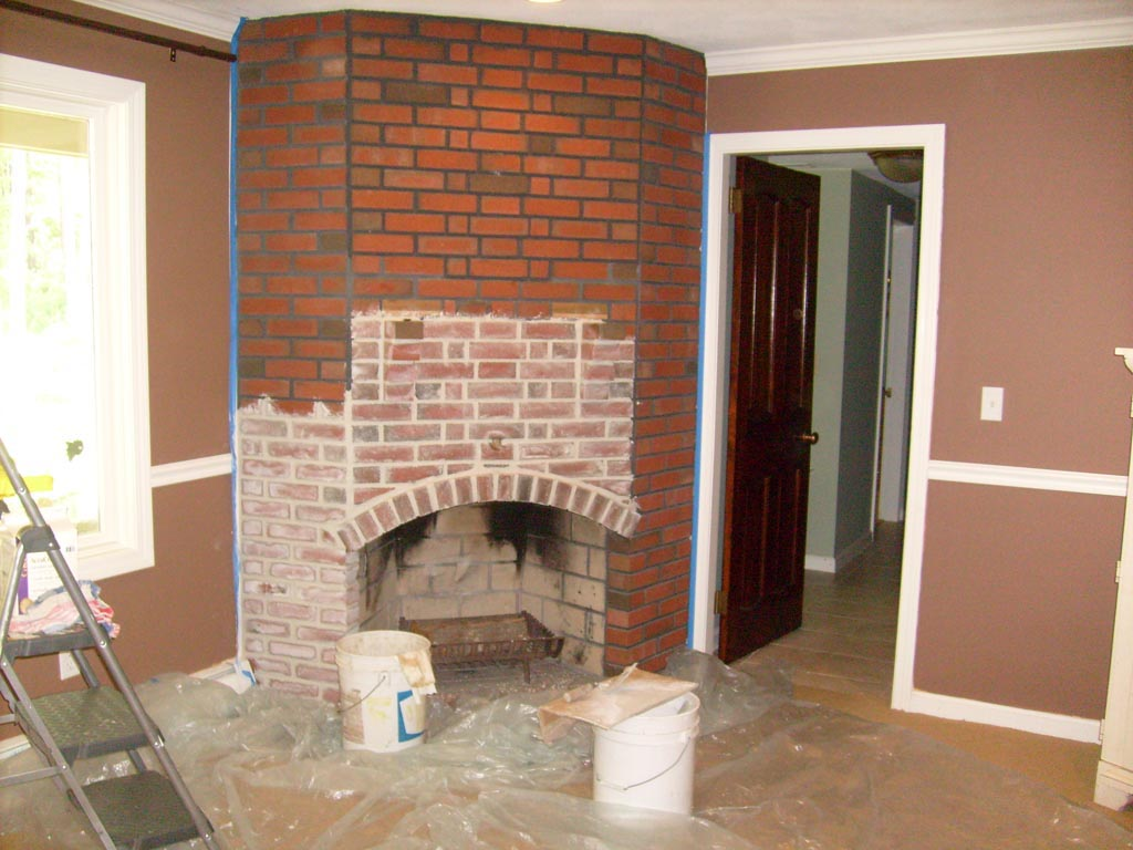 Red Brick Fireplace Remodel Fireplace Designs
