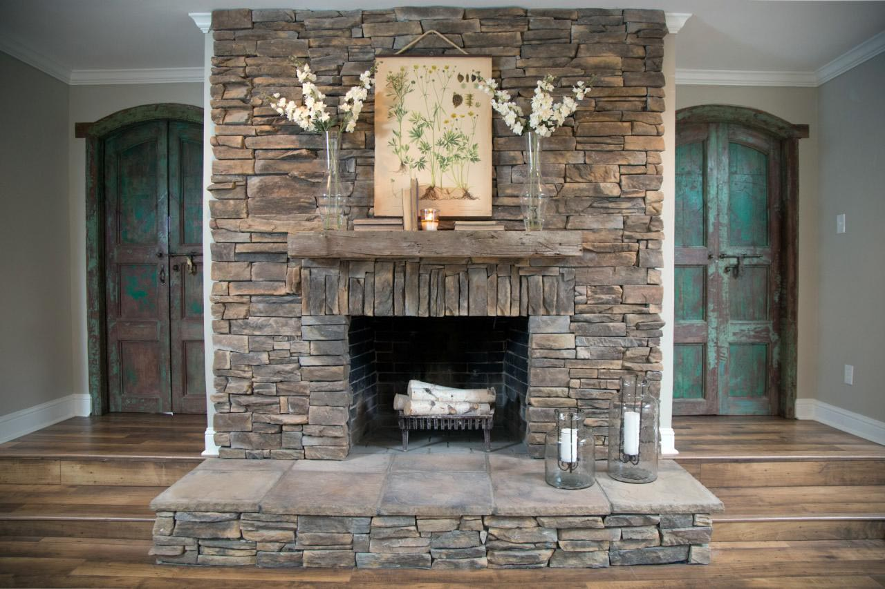 Stack Stone Fireplace Images Fireplace Designs