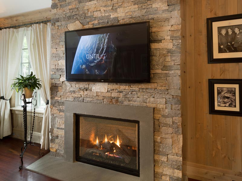 Stacked Stone Veneer Fireplace Fireplace Designs