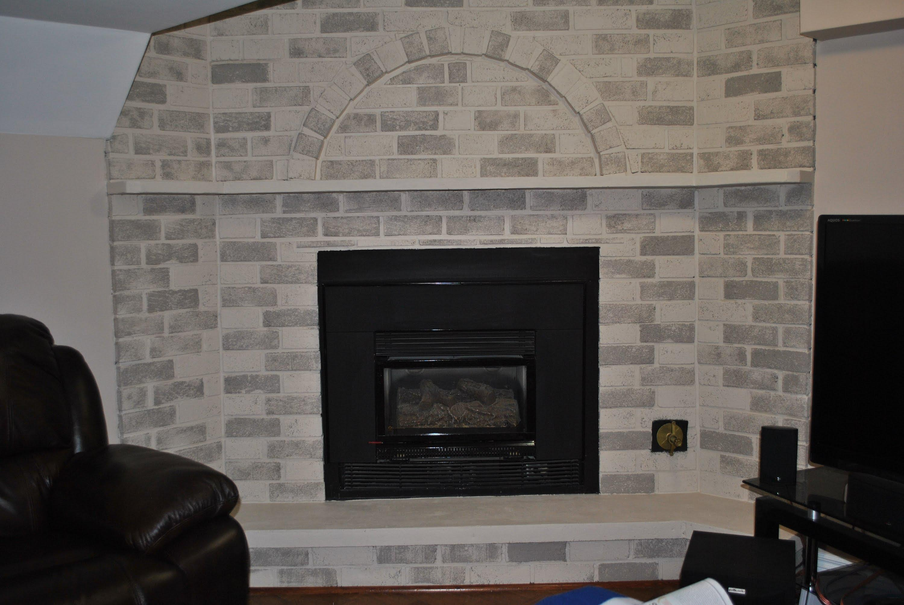 Whitewash Fireplace Before And After Whitewash Brick Fireplace Before And After Fireplace Designs