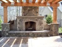 Brick Outdoor Fireplace Design | FIREPLACE DESIGN IDEAS