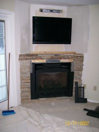 Decorate Your Home with a Corner Fireplace Mantel ...