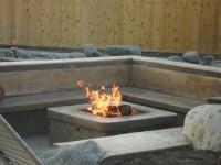 DIY Concrete Gas Fire Pit   FIREPLACE DESIGN IDEAS