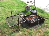 Fire Pit Cooking Tripod   FIREPLACE DESIGN IDEAS