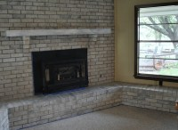 Grey Painted Brick Fireplace | FIREPLACE DESIGN IDEAS