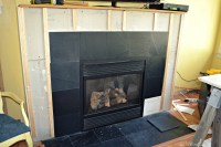 Slate Tile Fireplace Surround | Tile Design Ideas