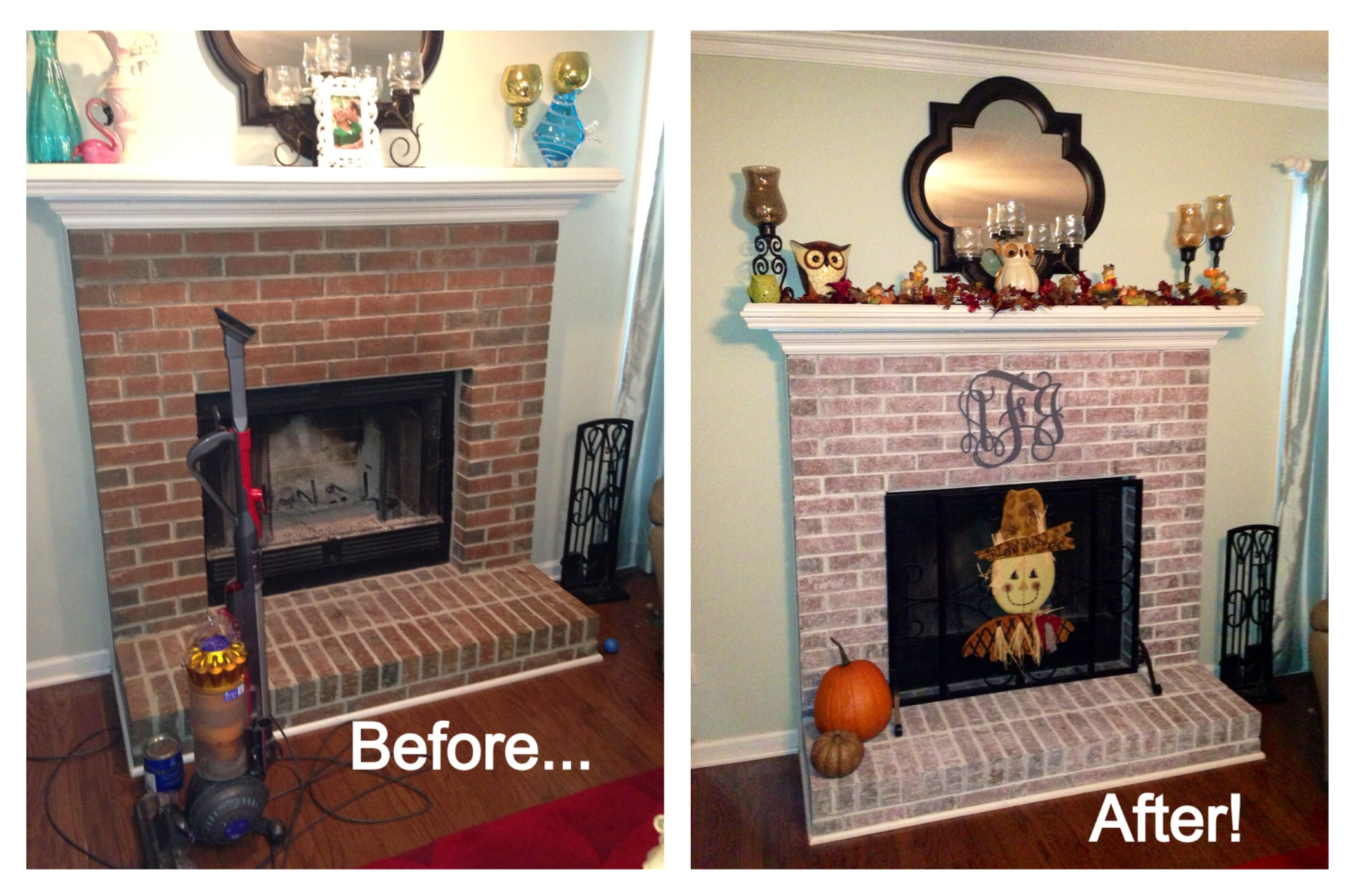 Lime Wash Brick Fireplace Did You Want To Whitewash Brick Fireplace In Your House