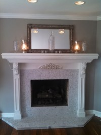 Marble Tile Fireplace Surround | FIREPLACE DESIGN IDEAS