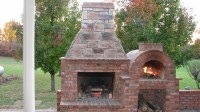 Outdoor Brick Fireplace With Oven | FIREPLACE DESIGN IDEAS