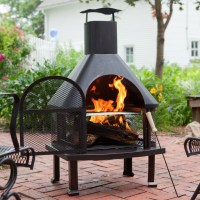 Outdoor Fire Pit Chimney | FIREPLACE DESIGN IDEAS