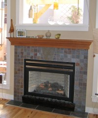Slate Tile Fireplace Surround | FIREPLACE DESIGN IDEAS