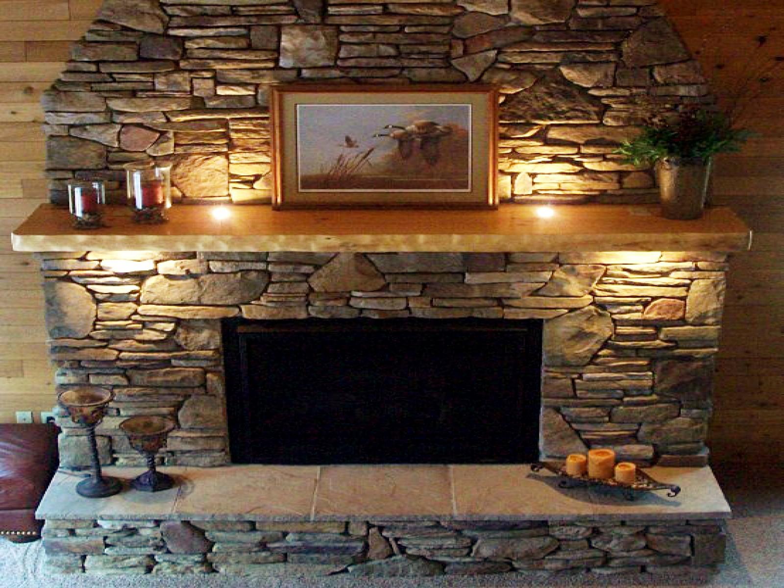 Stack Stone Fireplace Mantels Fireplace Design Ideas
