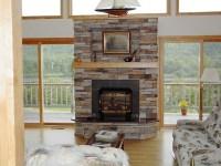 Stacked Slate Fireplace Surround