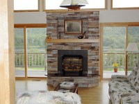 Stacked Slate Fireplace Surround | FIREPLACE DESIGN IDEAS