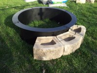 Steel Fire Pit Ring | FIREPLACE DESIGN IDEAS