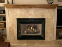 Travertine Tile Fireplace Surround | FIREPLACE DESIGN IDEAS
