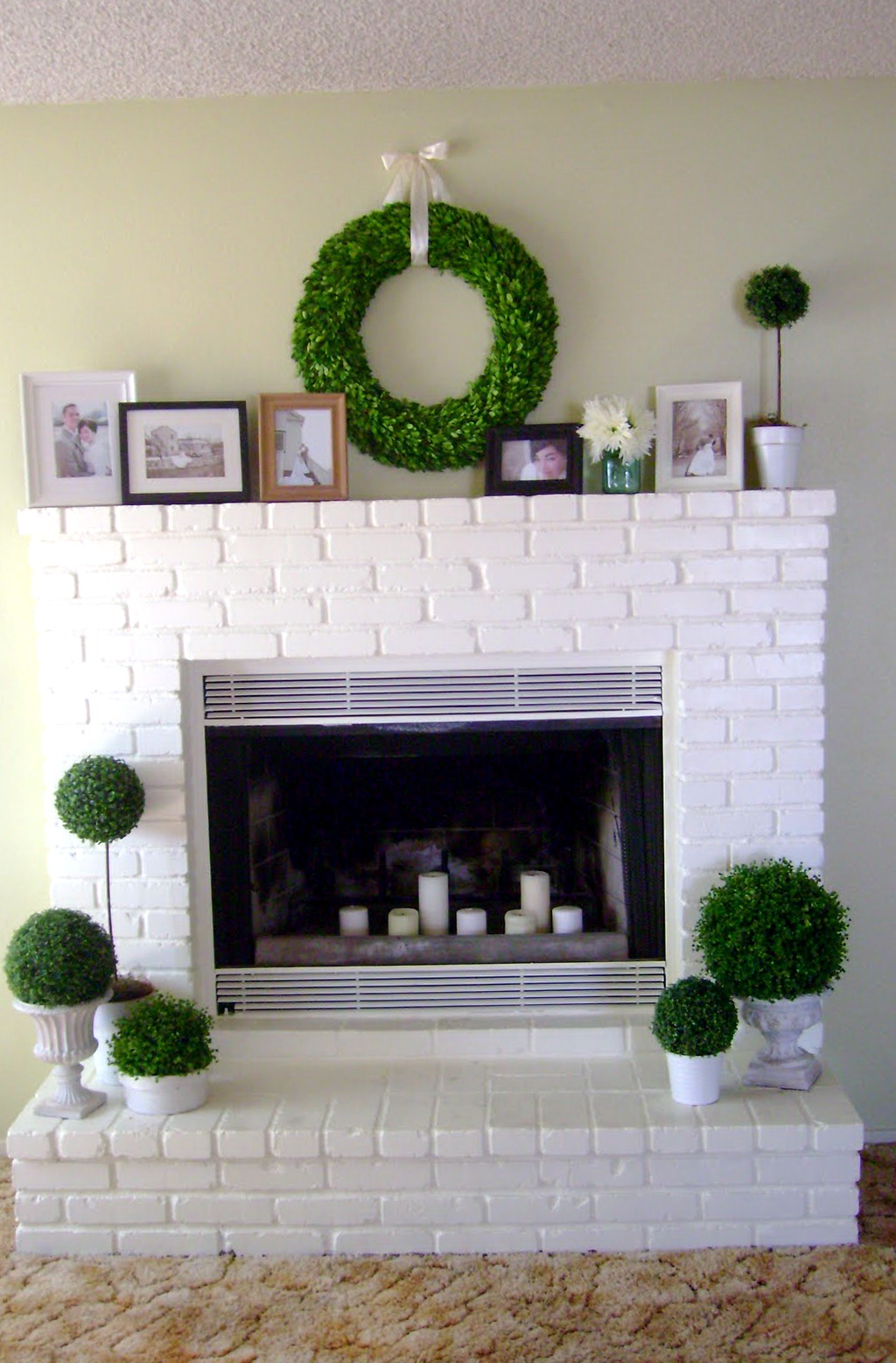 Update Old Brick Fireplace White Brick Fireplace Makeover Fireplace Design Ideas