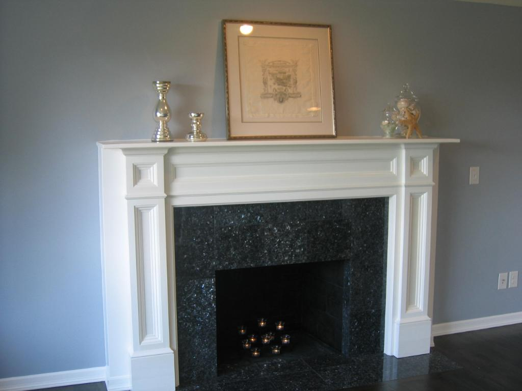 White Fireplace Mantel Surround Fireplace Design Ideas