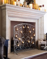 Fireplace Screens With Candle Holders   FIREPLACE DESIGN IDEAS
