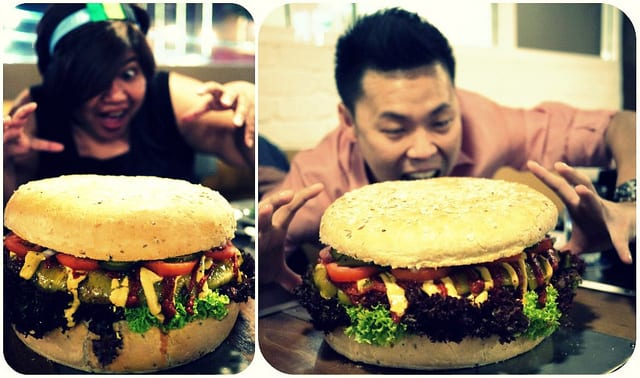 Oh My Goodness!  Giant burger at The Daily Grind, Bangsar