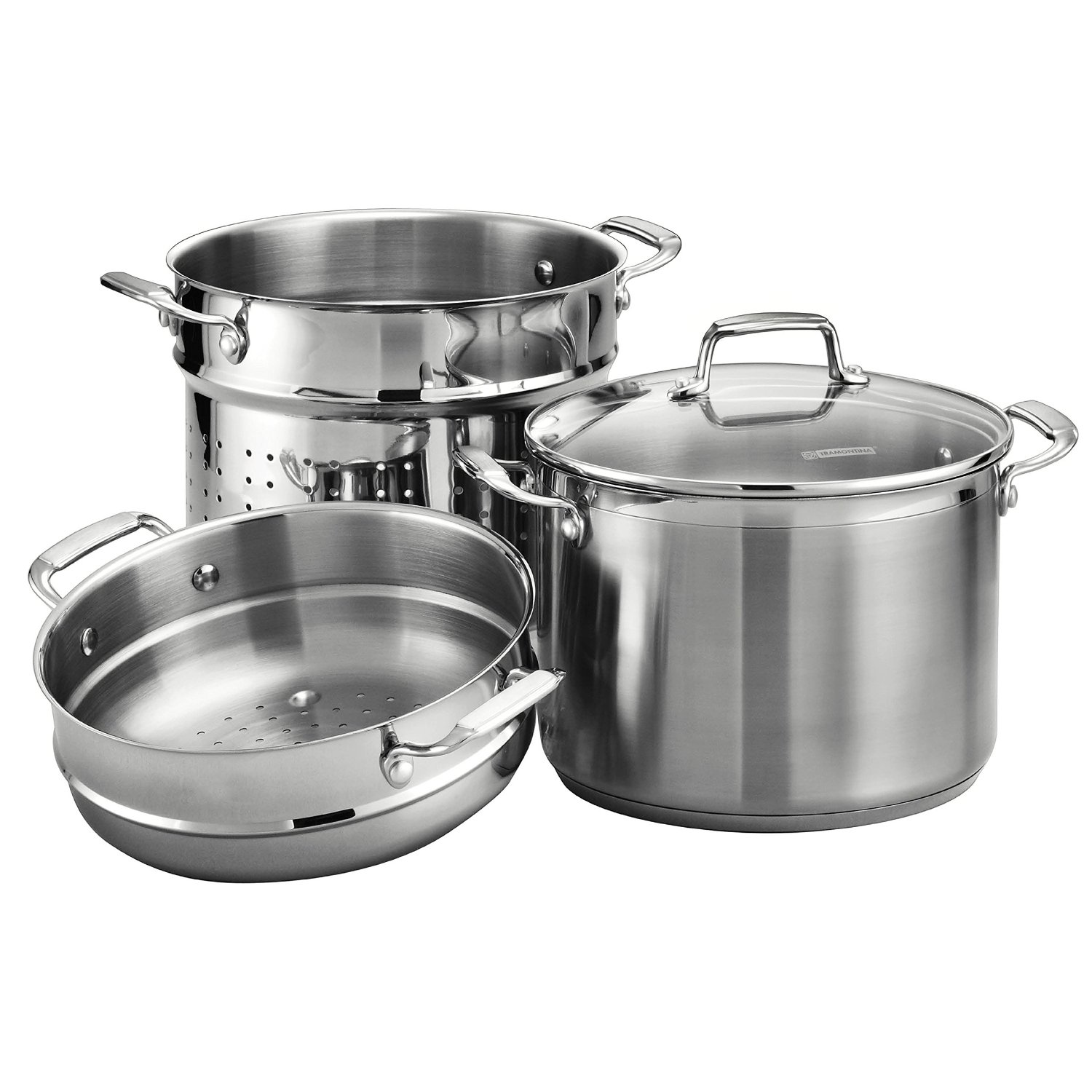 Amazon Cuisinart Stock Pot Tramontina 8 Quart Stainless Steel Pasta Pot Cooker