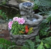 Solar Fountains For The Garden | Fountain Design Ideas