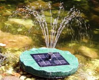 Solar Powered Pond Fountain | Fountain Design Ideas