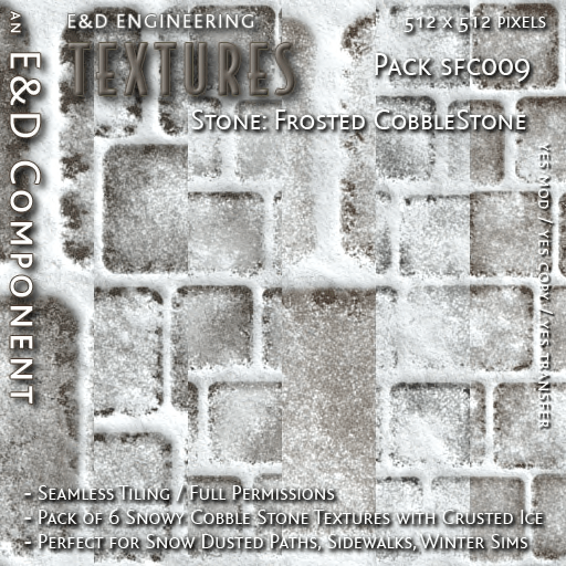 E&D ENGINEERING_ Textures - Stone Frosted CobbleStone SFC009_t